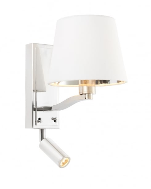 Endon Harvey Modern Nickel Dual Wall Light 73027