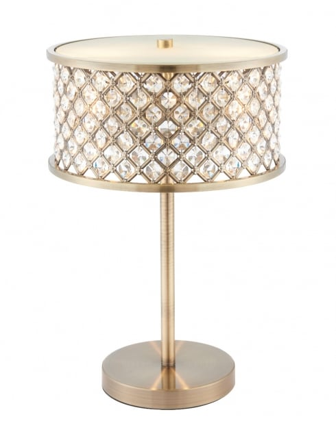 Endon Hudson Crystal Brass Incidental Table Lamp 72749