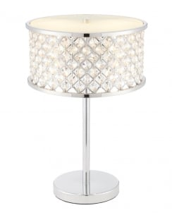 Endon Hudson Crystal Chrome Incidental Table Lamp 72747