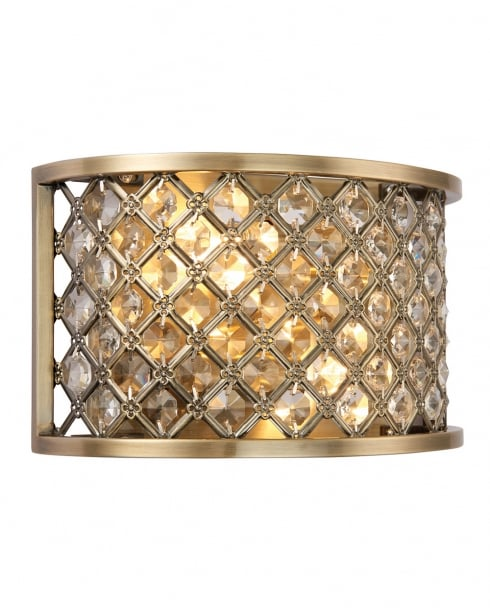 Endon Hudson Modern Brass Decorative Wall Light 70559