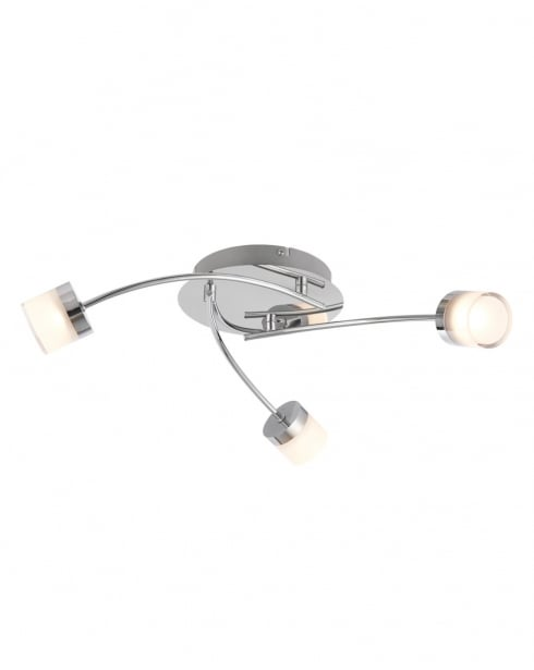 Endon Ikos Modern Chrome Bathroom Ceiling 73890