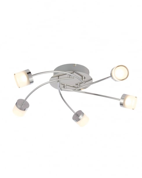 Endon Ikos Modern Chrome Bathroom Ceiling 73891