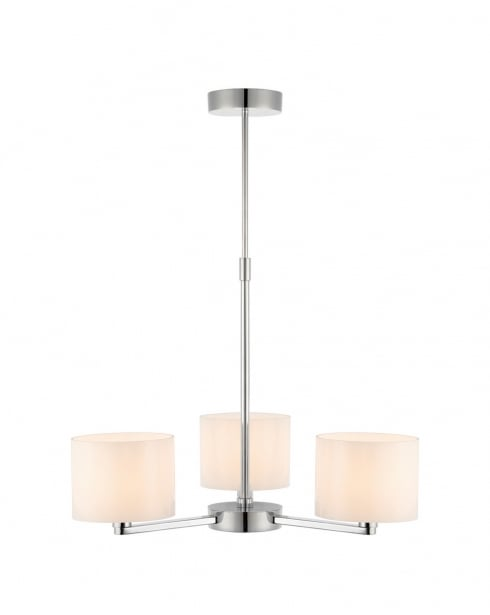 Endon Jairo Modern Chrome Semi-Flush Light 67740