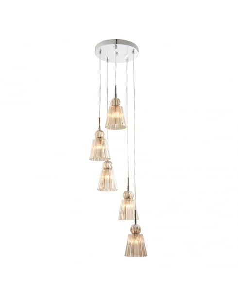 Endon Jannings Traditional Chrome Pendant Light 61200