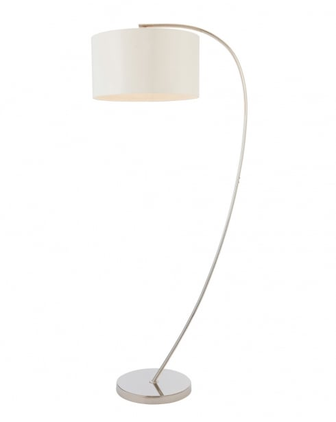 Endon Josephine Modern Nickel Floor Standing Reading Lamp 72388