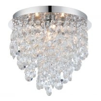 Endon Kristen Crystal Chrome Bathroom Ceiling 61233