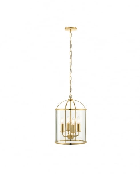 Endon Lambeth Modern Brass Multi-Arm Pendant 70322