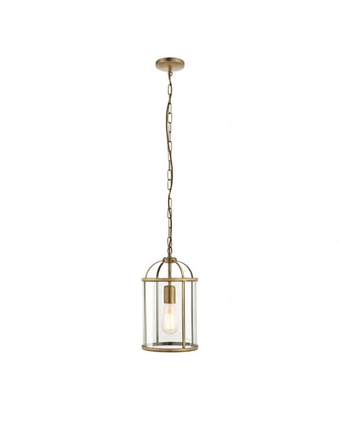 Endon Lambeth Modern Brass Pendant Light 69454