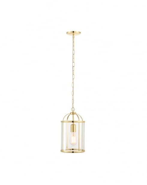 Endon Lambeth Modern Brass Pendant Light 70321