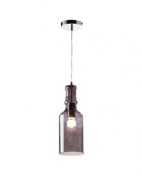 Endon Lancaster Single Light Modern Pendant Light LANCASTER-1SMK