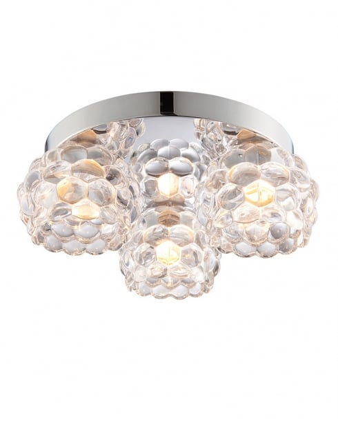 Endon Lawcross Crystal Chrome Bathroom Ceiling 55159