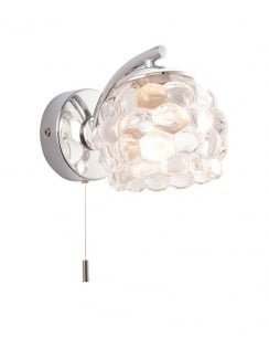 Endon Lawcross Crystal Chrome Bathroom Wall Light 55160