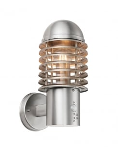 Endon Louvre Pir Modern Steel Security Light 72381