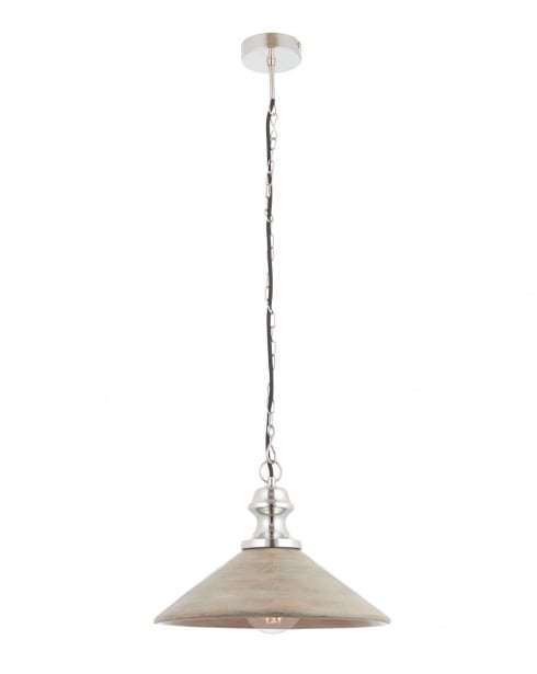 Endon Melbury Modern Nickel Pendant Light 73076