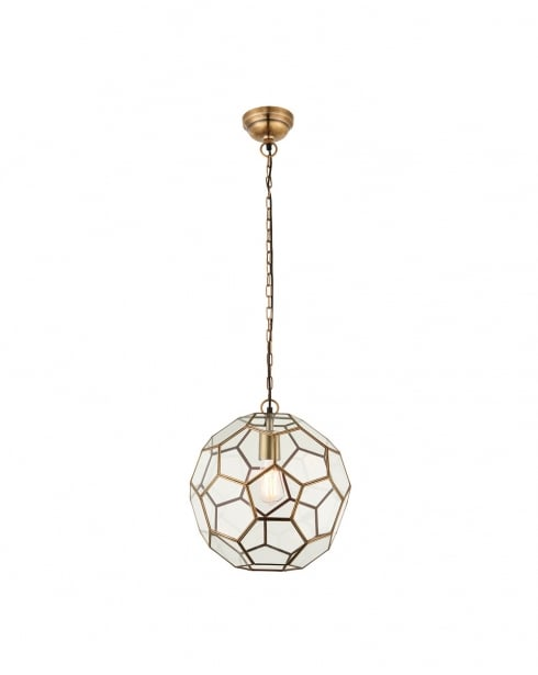 Endon Miele Modern Brass Pendant Light 69784