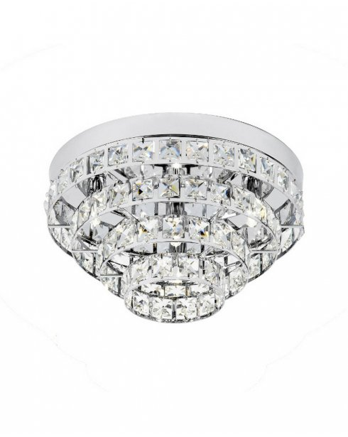 Endon Motown Single Light Crystal semi-flush Ceiling Fitting MOTOWN-4CH