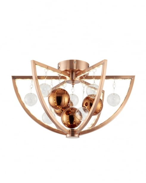 Endon Muni Modern Copper Flush Ceiling Fitting MUNI-CO-F