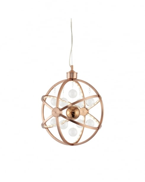 Endon Muni Modern Copper Pendant Light MUNI-CO-S