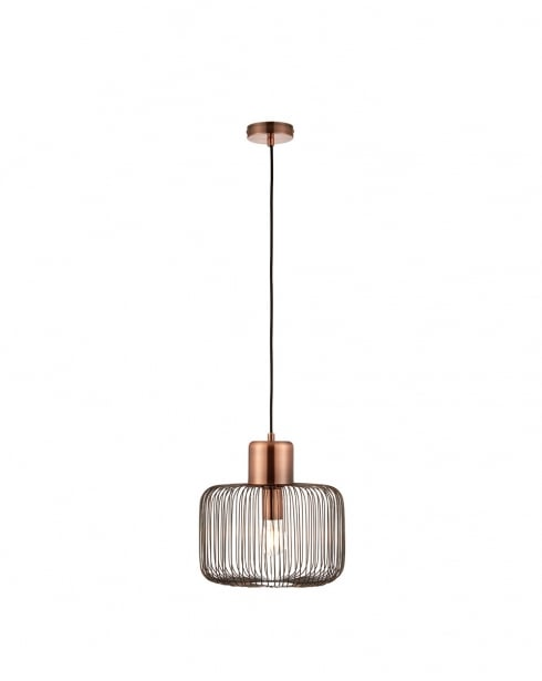Endon Nicola Modern Copper Pendant Light 68986
