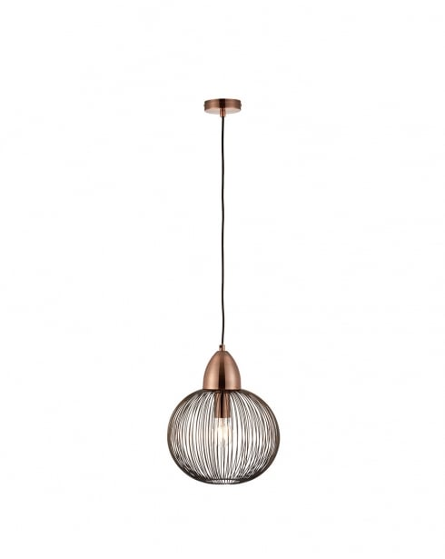 Endon Nicola Modern Copper Pendant Light 68987