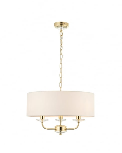 Endon Nixon Modern Brass Multi-Arm Pendant 70560