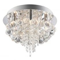 Endon Olmos Crystal Chrome Flush Ceiling Fitting 60196