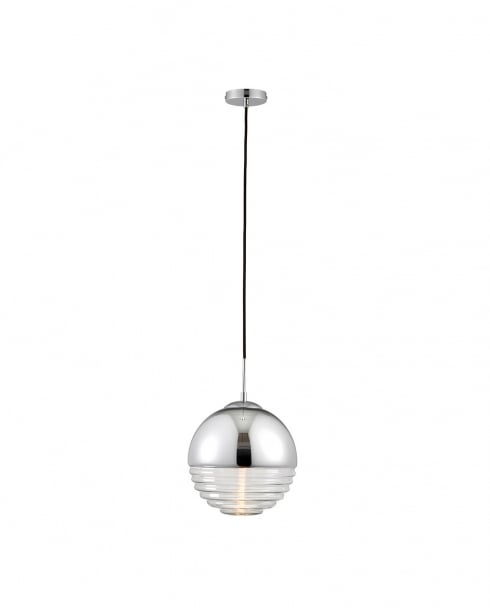 Endon Paloma Modern Chrome Pendant Light 68959