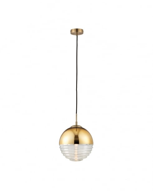 Endon Paloma Modern Gold Pendant Light 68958