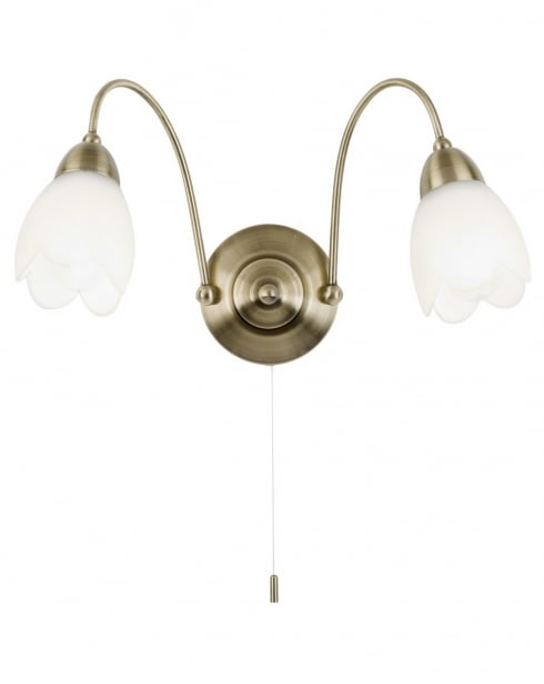 Endon Petal 124-2WBAB 2 Light Traditional Decorative Wall Light