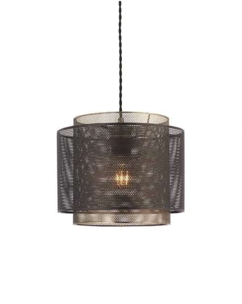 Endon Plexus Modern Brass Non-Electric Pendant Shade 72831