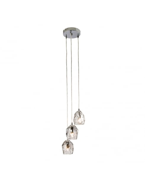 Endon Poitier Crystal Chrome Pendant Light 61194