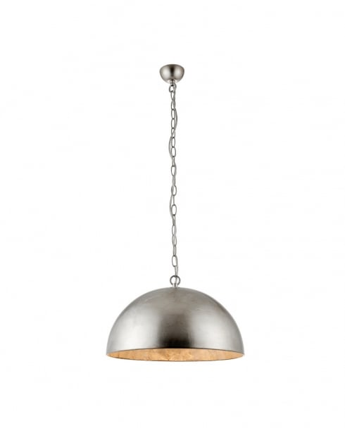 Endon Queenie Modern Silver Pendant Light 68776