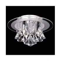 Endon Renner 3 Light Crystal semi-flush Ceiling Fitting RENNER-3CH