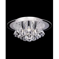 Endon Renner 5 Light Crystal semi-flush Ceiling Fitting RENNER-5CH
