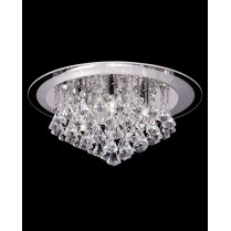 Endon Renner 6 Light Crystal semi-flush Ceiling Fitting RENNER-6CH
