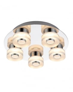 Endon Rita Modern Chrome Bathroom Ceiling 68913