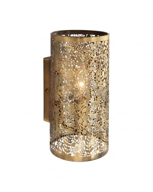Endon Secret garden Modern Brass Decorative Wall Light 70105