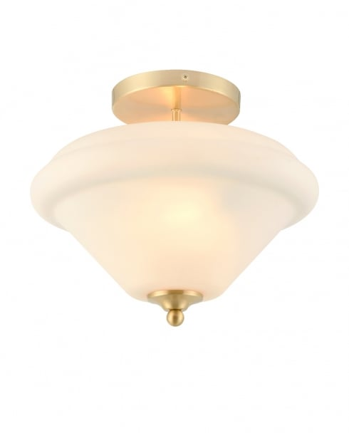Endon Sicily Traditional Brass Semi-Flush Light 72790