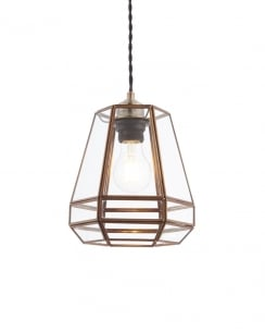 Endon Stockheld Modern Brass Non-Electric Pendant Shade 73287