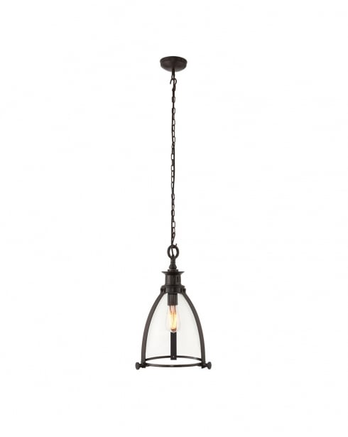 Endon Storni Modern Bronze Pendant Light 69766
