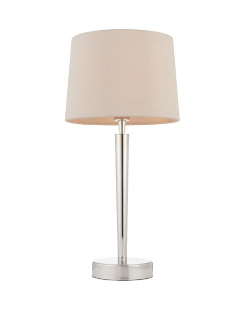 Endon Syon Modern Nickel Incidental Table Lamp With USB Socket 72175