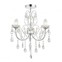 Endon Tabitha Crystal Chrome Bathroom Ceiling 61251