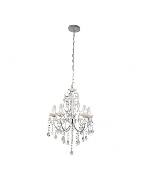 Endon Tabitha Crystal Chrome Bathroom Ceiling 61384