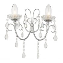 Endon Tabitha Crystal Chrome Bathroom Wall Light 61385