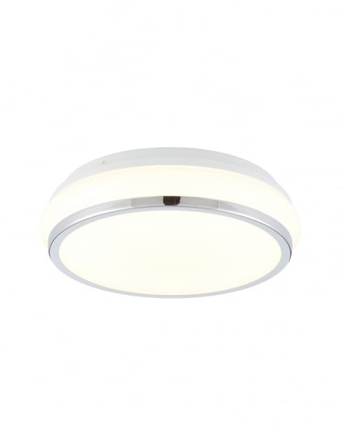 Endon Torus Modern Chrome Bathroom Ceiling 73714
