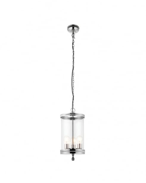 Endon Vale Modern Nickel Pendant Light 69768
