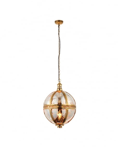 Endon Vienna Modern Brass Pendant Light 69777