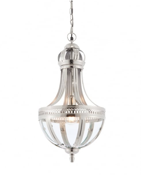 Endon Vienna Modern Nickel Pendant Light 73100