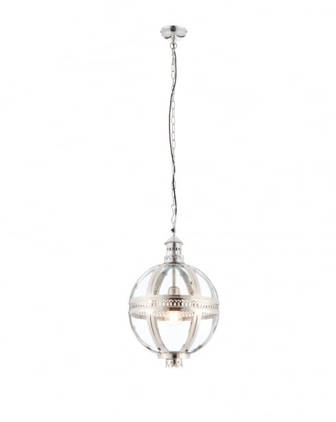 Endon Vienna Modern Nickel Pendant Light 73109