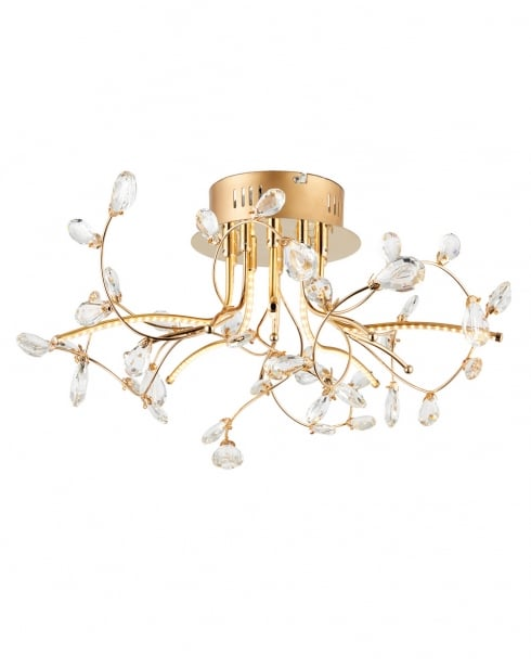 Endon Willa Modern Gold Semi-Flush Light 68885